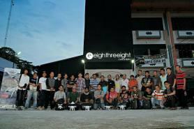 foto bareng kumpul di eightreeeight pekanbaru sudirman