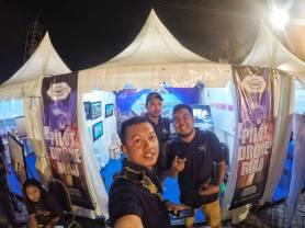 booth stand pilot drone riau di leguh legah taman raja ali haji pekanbaru